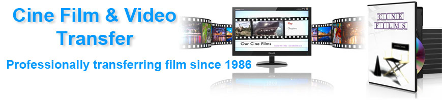 Cine and video transfer services. How to transfer your old video and cine reels of film.